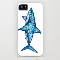 Shark iPhone Case by Kate Fitzpatrick | Society6