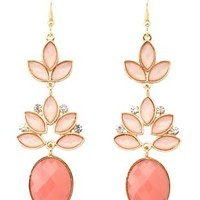 Dangling Faceted Stone Earrings by Charlotte Russe - Multi
