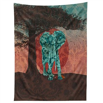 Belle13 Indian Summer With Raccoons Tapestry