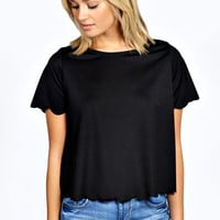 Grace Scallop Edge T Shirt