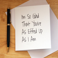 Naughty Card, Dirty Card, Card For Friend, Note Card For Boyfriend, Gift For Girlfriend, Adult Humor, Funny Card, Love Card, Effed Up