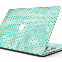 Green and Blue Watercolor Polka Dot Pattern - MacBook Pro with Retina Display Full-Coverage Skin Kit