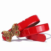 Wearwinds GUCCI hot new lady butterfly belt with diamond-gold buckles