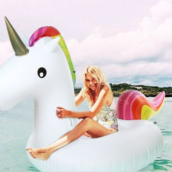Inflatable Giant Unicorn Air Sofa Floating Inflatable Mattress Swimming Pool