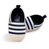 Blue Striped Baby Boy Shoes Lovely Infant First Walkers Good Soft Sole Toddler Baby Shoes