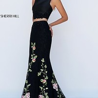 Embroidered Long Mermaid Style Prom Dress by Sherri Hill