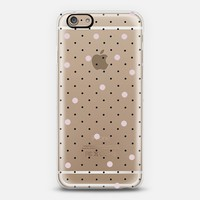 Pin Point Polka Dot Pink Transparent iPhone 6 case by Project M   Casetify