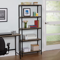 Simple Living Piazza 5-tier Wood and Metal Bookshelf | Overstock.com Shopping - The Best Deals on Office Storage & Organization