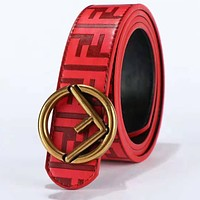 Fendi New fashion F buckle more letter leather couple belt