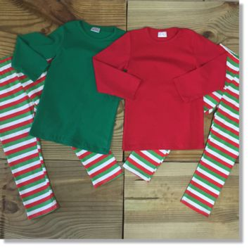 Children's Green Christmas Pajamas