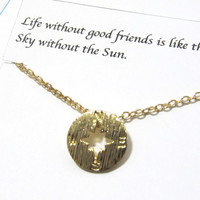 Compass Necklace-Best Friend Gift/B1/Gift For Friend-Friendship Jewelry-Friendship Necklace-Best Friend Jewelry-Best Friend Necklace