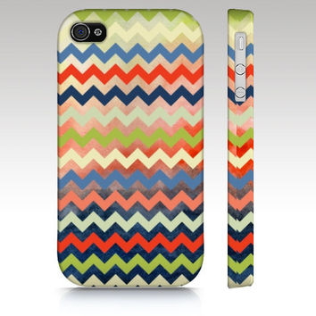 Chevron iPhone case, iPhone 4s, iPhone 5, Zigzag colorful watercolor pattern design, trendy hipster fashion style, art for your phone