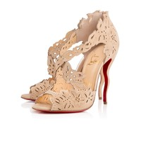 DECOUPADIVA SUEDE, NUDE , Suede, Women Shoes, Louboutin.