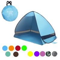 Quick Automatic Opening Beach Tent Sun Shelter UV-Protective Tent Outdoor Camping Tent Hiking Beach Summer Tent Portable Pop Up