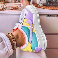NIKE Air force AF1 macaron cream chrysanthemum pendant Blue Yellow Purple
