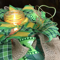 St Patricks Day Centerpiece St Patty Party Decor St Patricks Day Wreath St. Patty Centerpiece Luck of the Irish Four Leaf Clover