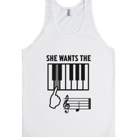 She Wants The D-Unisex White Tank