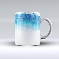 The Faded Blue Watercolor Strokes ink-Fuzed Ceramic Coffee Mug