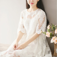 LACE FAIRY SKIRT LOOSE LOOSE LARGE SIZE DRESS