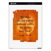 Mark Twain Birthday Quote With Hearts Decal For The iPad 2