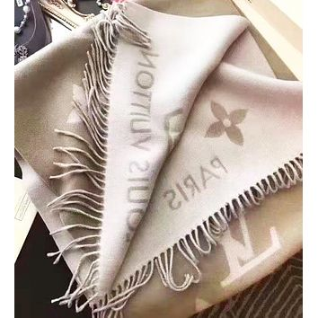 LV Louis Vuitton High Quality Fashion Women Men Tassel Cashmere Cape Scarf Scarves Shawl Accessories