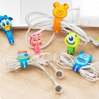 Cartoon Cable Protector Data Line Cord Protector Protective Case Cable Winder Cover For iPhone USB Charging Cable