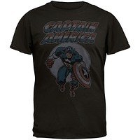 Captain America - Charging Soft T-Shirt