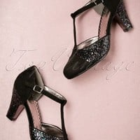 20s Sparkles On My T-Strap Pumps in Black