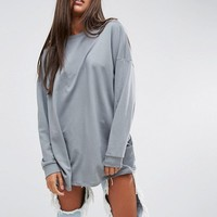 ASOS Super Oversized Lightweight Sweatshirt at asos.com