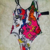 Fashion Versace Summer Beach Wear Classic One Piece Bikini Swimsuit Bathing Suits