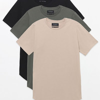 PacSun Three Pack Abas Scallop T-Shirts at PacSun.com