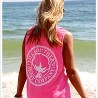 Southern Shirt Co. Tank - Pink: Blush Boutique & Specialty Shop