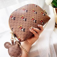 GUCCI Dionysian Mickey Mouse Women Shopping Leather Cute Crossbody Satchel Shoulder Bag