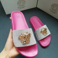 Pink Versace Fashion Slipper Sandals Shoes