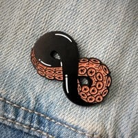 Tentacle Infinity Surreal Enamel Pin in Black