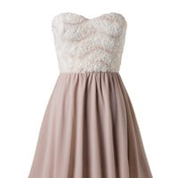 Strapless Champagne Dress