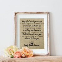 Personalized Baby Shower | Shower Decoration | Gender Neutral Shower | Irish Blessing | The New Rustic | Burlap Sign | Nursery Wall Art