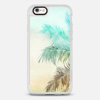 WATERCOLOR PALM LEAVES TURQUOISE SUNSET iPhone 6s case by Overstand Originals | Casetify