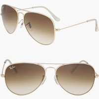 RAY BAN AVIATOR RB3025 Sunglasses - Gold/Brown 001/51 (Large (62mm))