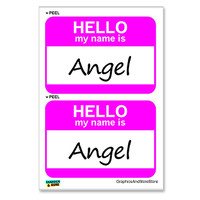 Angel Hello My Name Is - Sheet of 2 Stickers