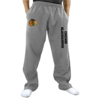 Chicago Blackhawks Two Hit Fleece Pants - Gray