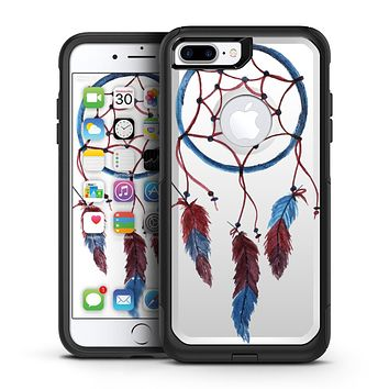 Watercolor Red and Blue Toned Dream Catcher - iPhone 7 or 7 Plus Commuter Case Skin Kit