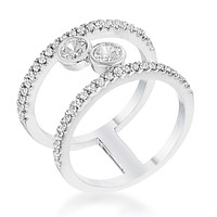 Irene Floating Bubbles CZ Ring | .9ct