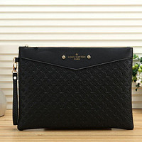 Louis Vuitton Fashion Men Envelope Clutch Bag Leather File Bag Tote Handbag