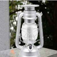Portable Copper/Silver Solar Powered LED Lantern Emergency Flashlights  Dimmable Night Lights for Outdoor Camping Hiking Fishing
