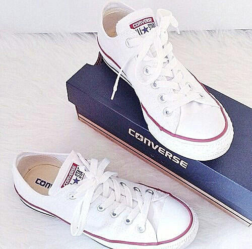 Image of Converse All Star Sneakers canvas shoes for Unisex sports shoes low-top white