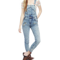 Vintage Destroyed Cuff Overall | Wet Seal