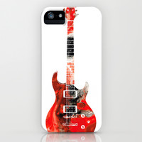 Bass Guitar - Buy Colorful Abstract Musical Instrument iPhone & iPod Case by Sharon Cummings