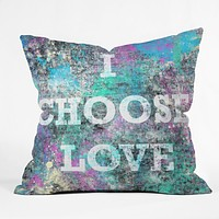 Amy Smith I Choose Love Throw Pillow