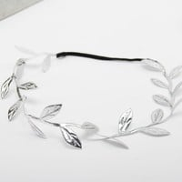 Mommy And Baby Silver Gold Leaf Headband For Hair Accessories Peace Olive Branch Child Girl Cute Leaves Hairband